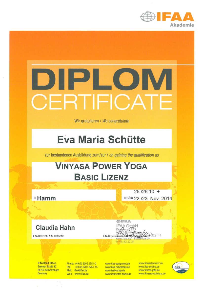 Yoga-Diplom