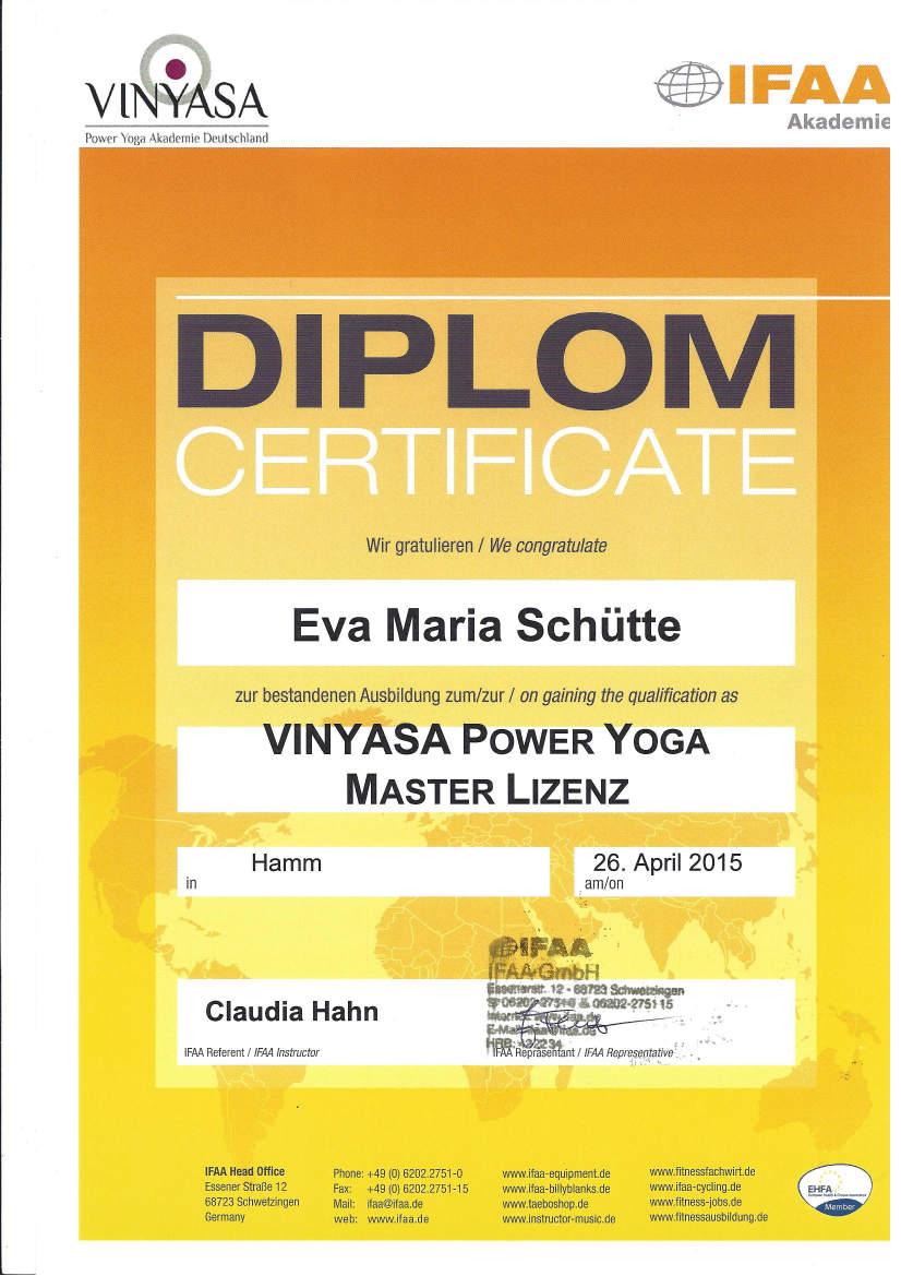 Yoga Master Lizenz